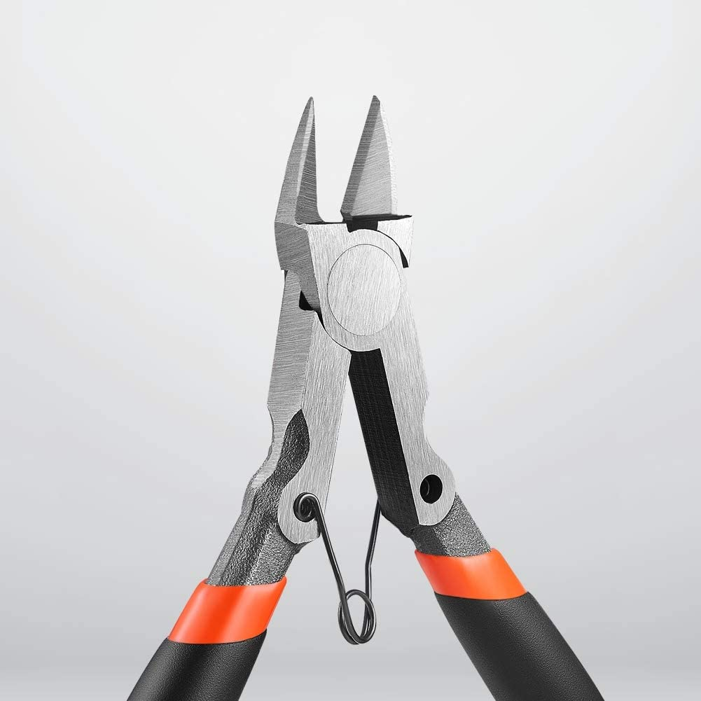 Ideal for Clean Cut and Precision Cutting Needs Black Ultra Sharp and Powerful CR-V Side Cutting nippers IGAN-330 Wire Flush Cutters Electronic Model Sprue Wire Clippers