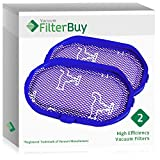 2 - FilterBuy Dyson DC30 (DC-30) Pre Motor Replacement Filters, Part # 917066-02. Designed by FilterBuy to be Compatible with Dyson DC31 & DC34 Series Handheld Vacuum Cleaners.