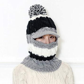 ZKADMZ@@ Las Mujeres De Invierno Gorro De Punto Ninja Mask ...