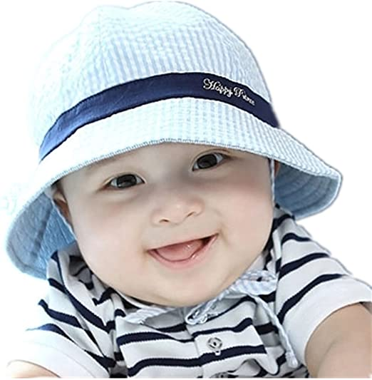 5c94a925 Amazon.com: Toddler Infant hats, Unisex Baby Kid Child Summer Sun  Protection Outdoor Beach Bucket Cap Hat for 0-3-6-12 months Blue: Clothing