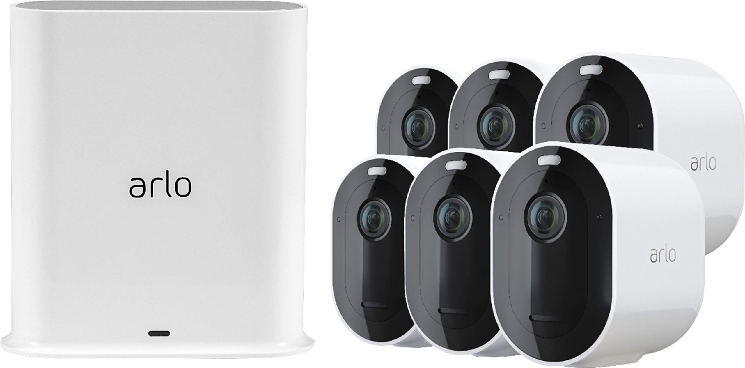 Pro 3 6-Camera Indoor/Outdoor Wire-Free 2K HDR Security Camera System by Arlo Technologies, Inc