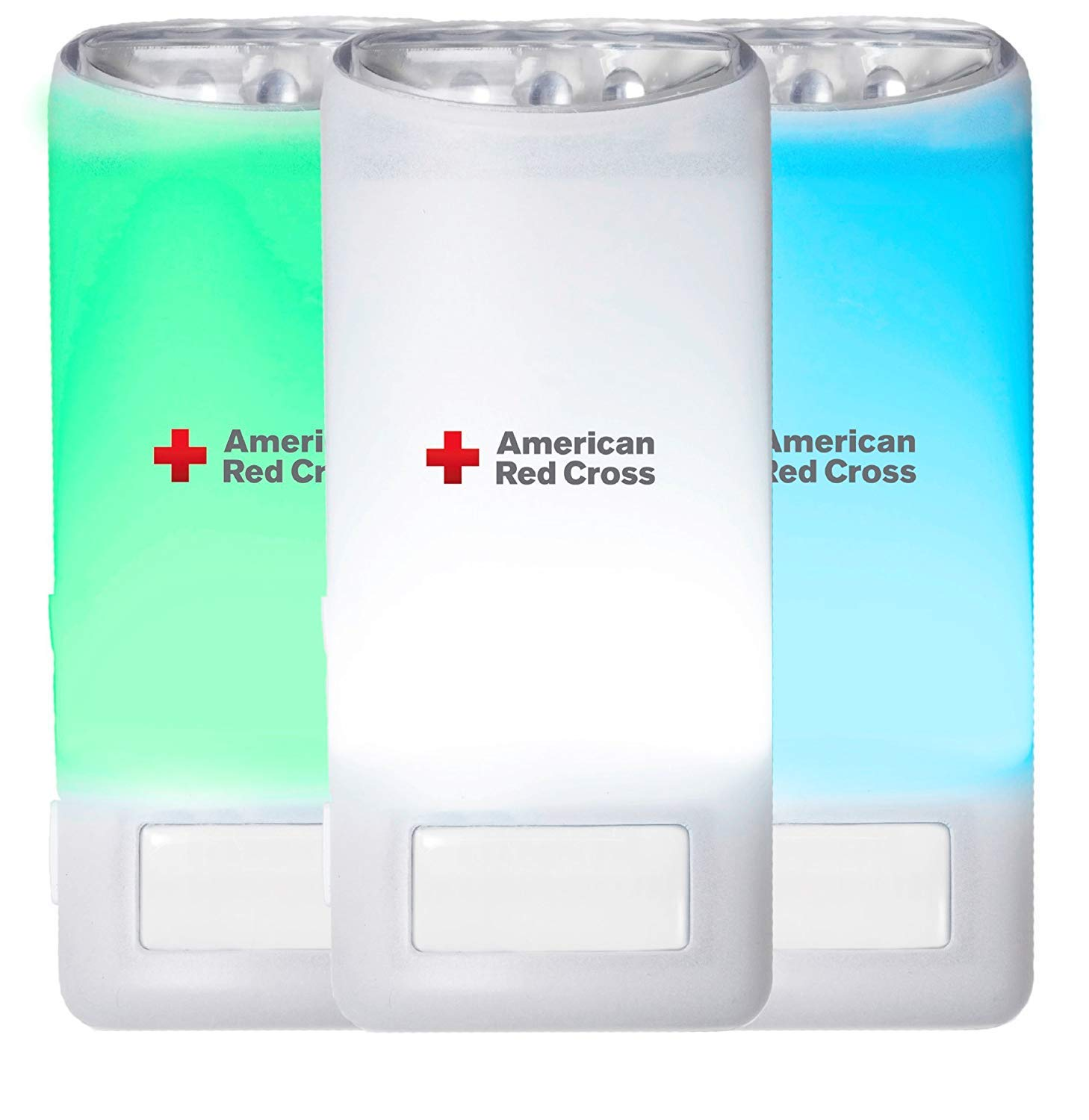 4 Count Eton American Red Cross Blackout Buddy Color Motion Activated Emergency LED Flashlight Blackout Alert /& Nightlight