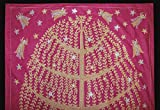 UZBEK SILK EMBROIDERY SUZANI WITH MAGICAL DESIGN ''TREE OF LIFE AND FAIRIES'' N141