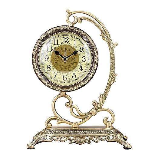 X-HH Reloj de Mesa, Reloj de Escritorio Reloj de Mesa de Metal ...