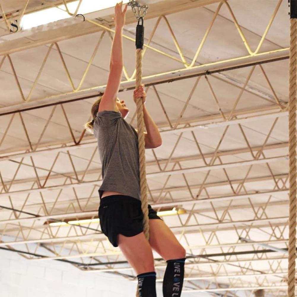 38 mm,Beige,5m Dongbin Professional Diameter Rope Climbing Gym Climbing Rope home Hemp rope Outdoor Climbing Rope Fire Arm Training Body Fitness Training explosive power