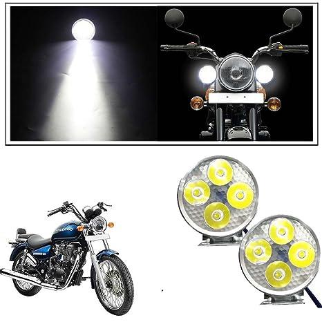 147c5d27d8f Vheelocityin 4 Led Small Circle Motorcycle Light Bike Fog Lamp Light - 2 Pc  For Royal Enfield Thunderbird  Amazon.in  Car   Motorbike