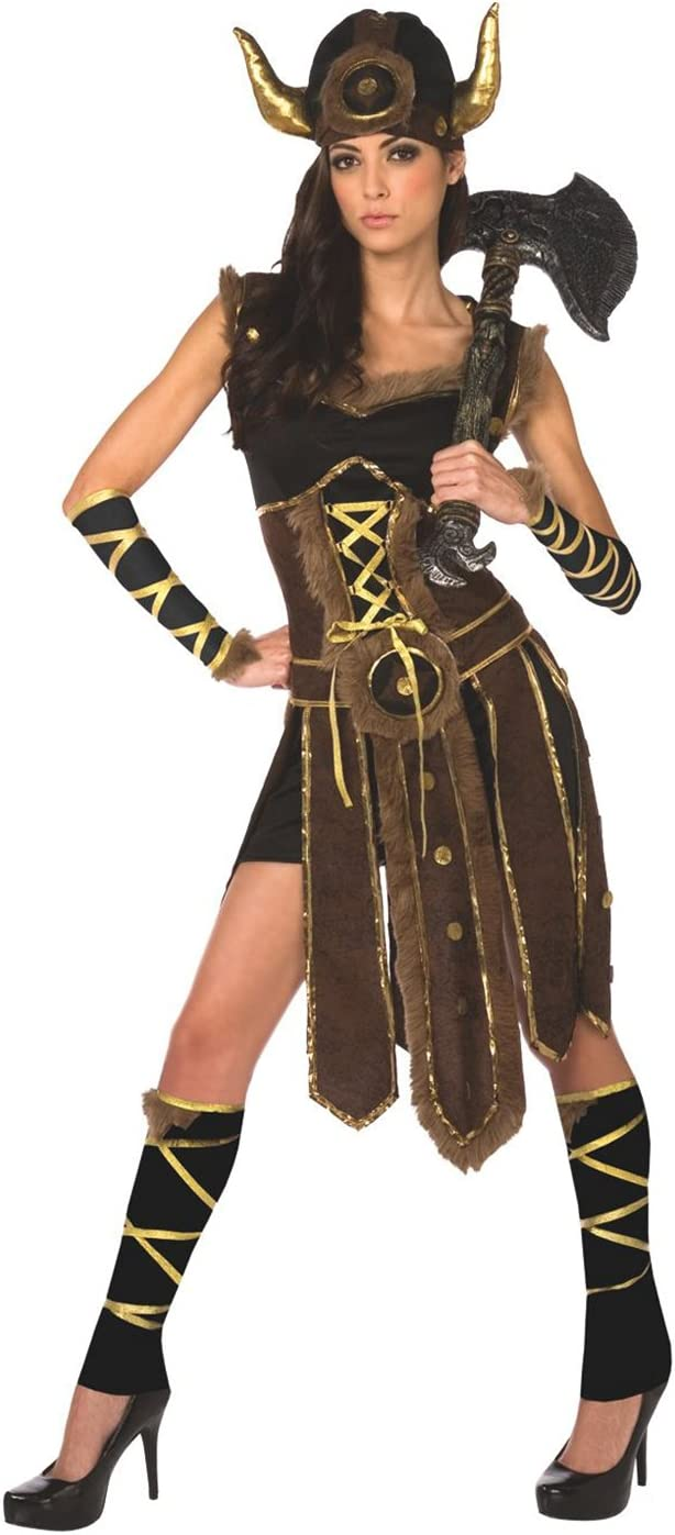 Traje Vikingo para Mujer Ropa de Mujer vikinga Vestido Guerrero ...