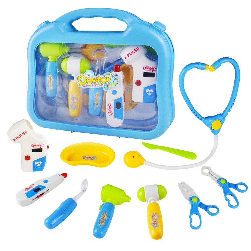 Amazon.com: yoptote Doctor Kit Pretend Play Girls Toys Medical Case ...