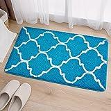 Hall floor mat door mat kitchen/bedroom/bathroom door mat absorbent mat -4565cm Sky blue