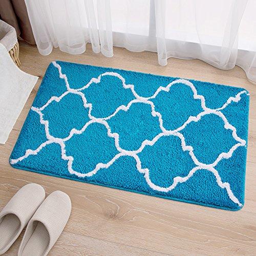 Hall floor mat door mat kitchen/bedroom/bathroom door mat absorbent mat -4565cm Sky blue by ZYZX