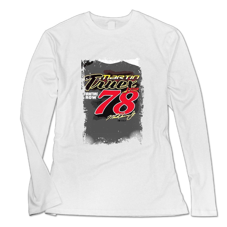 Women Martin Truex Jr Fast & Loose Charcoal Long Sleeve Shirt.