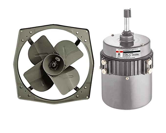 Indo 1400 Rpm Iron Exhaust Fan Components And Motor Grey Amazon In Home Kitchen