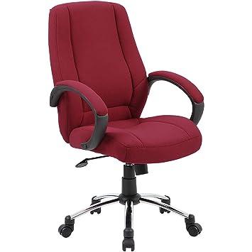 Avec Bureau Bordeaux Confortable Dossier HautColoris Chaise De 8k0XOPnw