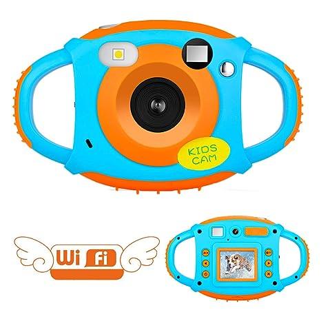 da48c6ed78 Videocamera per Bambini Fotocamera Digitale per Bambini Mini telecamera  WiFi per Bambini 5MP 1080P Ricaricabile con