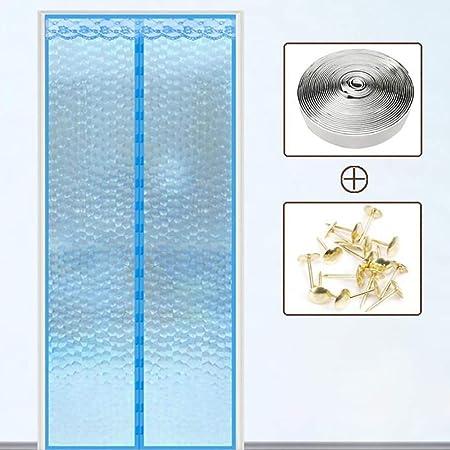 ZHONGYI666 Cortina Mosquitera Magnética para Puertas,Aislamiento Plástico, Gasa Ambiental De Banda Magnética Fuerte, Fácil De Quitar Y Lavar Instalación, Sin Huecos 100 * 200 Cm: Amazon.es: Hogar