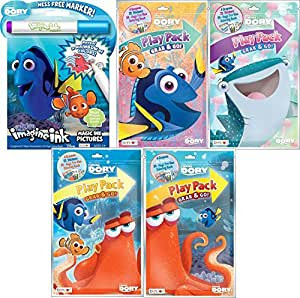 Finding Dory Imagine ink book and 4 Different Play Packs Grab and Go.