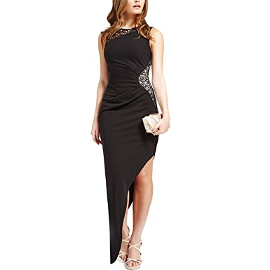CoCo Fashion Damen Maxikleid Abendkleid Paillettenkleid Lace Bodycon ...