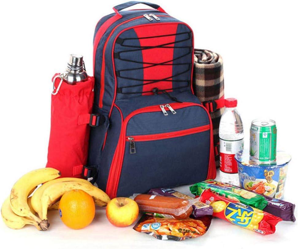 Mochila de Picnic Mochila de picnic multifuncional para 4 personas Set Pack con manta y bolsa impermeable con aislamiento para acampar al aire libre de la familia (azul marino Para Acampar /