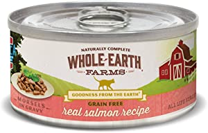 Whole Earth Farms Grain Free Salmon Morsels, Pack of 24