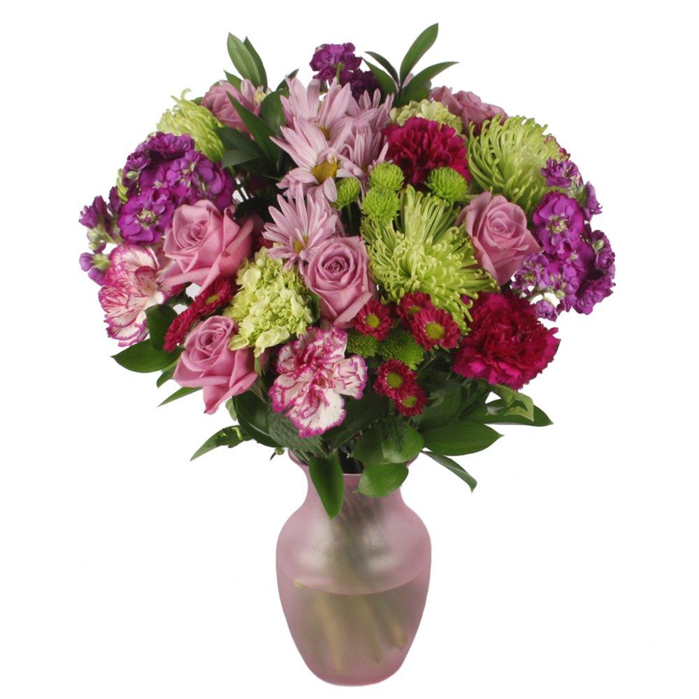 Vistaflor - Lavander Love Vase Floral Arrangement For Special Ocassions by eFlowy