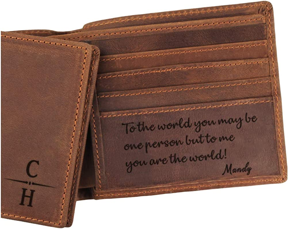 Mens Wallet Engraved Wallet Custom Wallet,Leather Wallet,Gift for Dad,Gift for Men Personalized Handcrafted leather wallet