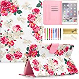 ipad mini cases cheap - iPad Mini 2 Case, iPad Mini 1/3 Case, Dteck Slim Fit [Stylus Holder] Flip Folio Stand Leather Case with Auto Sleep/Wake Feature Wallet Smart Cover for Apple iPad Mini 1/2/3 (Rose Floral)