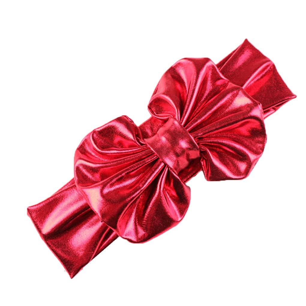 Beaums Filles coloré nourrisson bébé noueuse Bandeau Turban bowknot Hairband tête Wrap Couvre-chef cheveux Bow