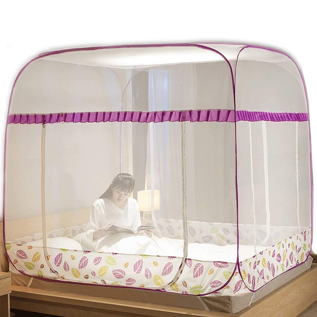 蚊帳モンゴルのパオ蚊帳は3ドア暗号化パッド入り蚊帳をインストールする必要はありません (色 : D, サイズ さいず : Bed 1.35m) Bed 1.35m D B07RSKNCJW