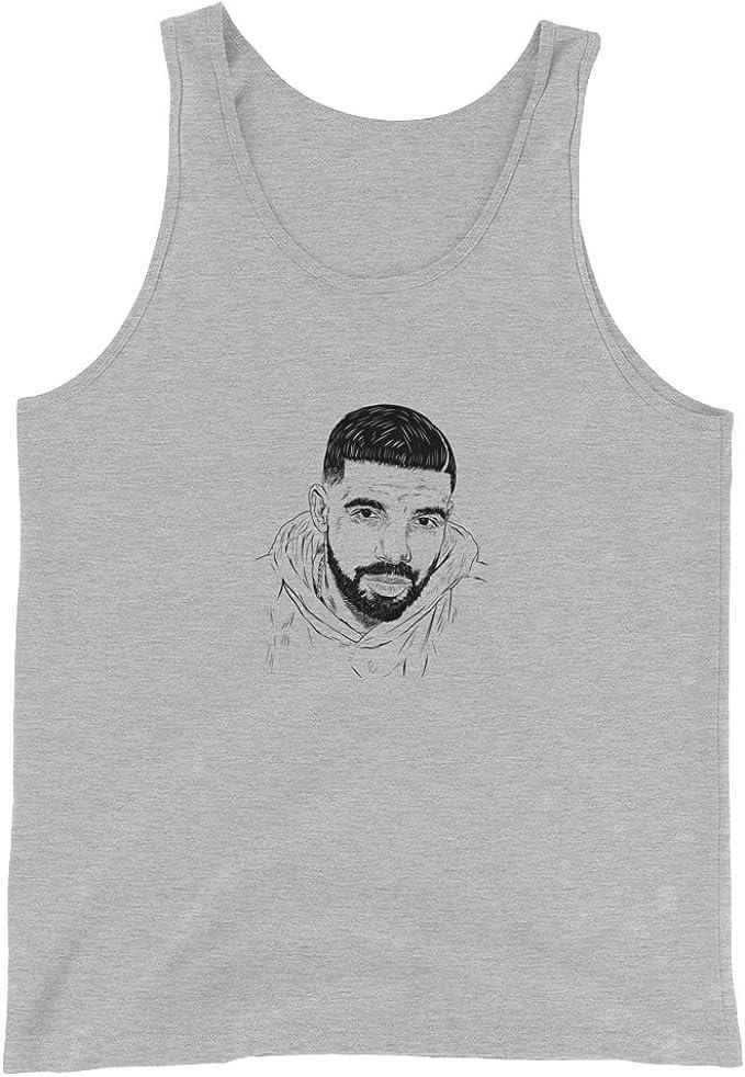 Drake 6 God Face Grey Tank Top Unisex