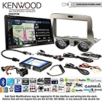 Volunteer Audio Kenwood DNX574S Double Din Radio Install Kit with GPS Navigation Apple CarPlay Android Auto Fits 2010-2015 Chevrolet Camaro