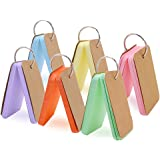 Koogel 300 Pieces 2.2 x 3.5 Inches Multicolor Kraft Paper Binder Ring Easy Flip Flash Card Study Cards/Memo Scratch Pads/Book