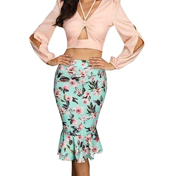 Faldas Mujer Midi Verano 2019 Sexy Elegante Tallas Grandes PAOLIAN ...