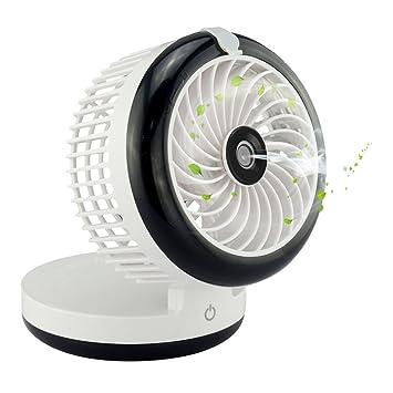 Topwell Humidifier Fan USB Mini Cooling Misting Fan Portable Water Spray Fan  Rechargeable Humidifier Personal Fan