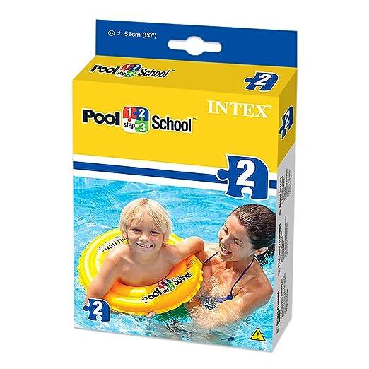 Intex 58231EU - Flotador hinchable amarillo 51 cm de 3 a 6 años: Amazon.es: Juguetes y juegos