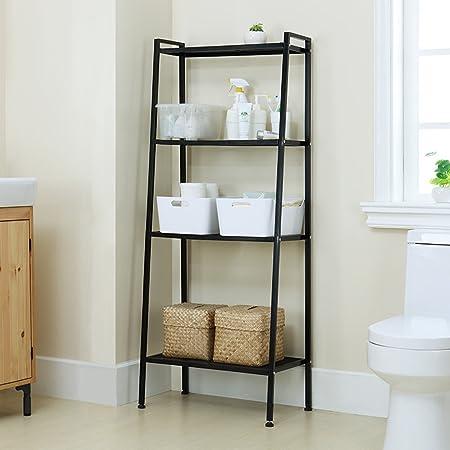 Estantería de 4 baldas de Holifine®, estantería para plantas o libros, con forma de escalera, escalonada, estantería de almacenaje de pared: Amazon.es: Hogar