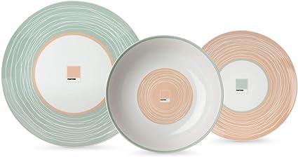 Porcellana Small Egan Piatto Avorio