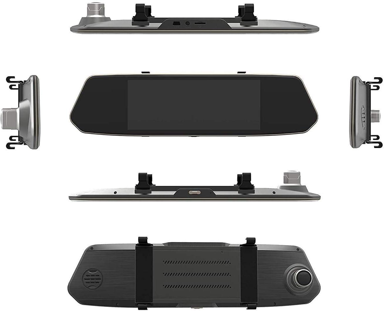 Dudubell Dashcam 10 9 Cm 4 3 Zoll Touchscreen Spiegel Dashcam Mit 1080p Frontkamera Und Ip68 Wasserdichte Led Rückkamera 290 Grad Weitwinkel Dvr Dashcam Mit 6g Und Hdr Auto