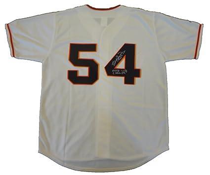e80101922 Sergio Romo Autographed San Francisco Giants Cream Jersey W PROOF ...