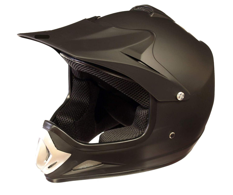 Medium Qtech Childrens KIDS MOTOCROSS MX Style Helmet BMX Quad Bike Q101 Matt Black