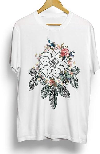Camiseta de algodón para mujer, atrapasueños, ropa de niña, regalo de novedad (M) color blanco: Amazon.es: Ropa y accesorios