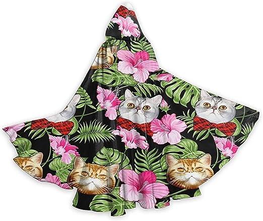 Rexing Capa para Adultos Gatos de Flores Aloha de Huevos Calabaza ...