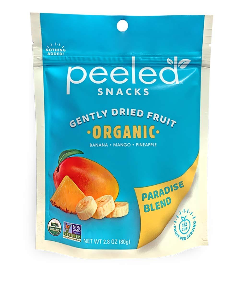 Peeled Snacks Organic Dried Fruit, Paradise Blend, 2.8 Ounce
