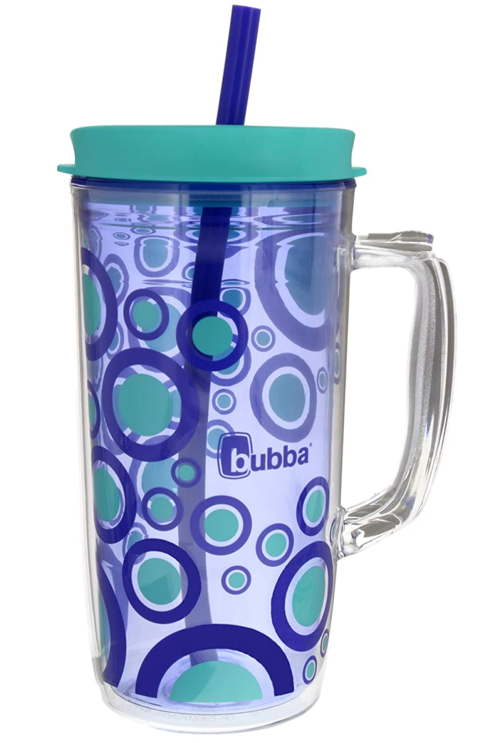 Bubba Envy Insulated Tumbler with Straw, 48oz-Ideal Travel Mug with Handle that is Impact, Stain, Sweat, and Odor Resistant-Insulated Water Bottle to Take on the Go- Vineyard with Bubble Graphic