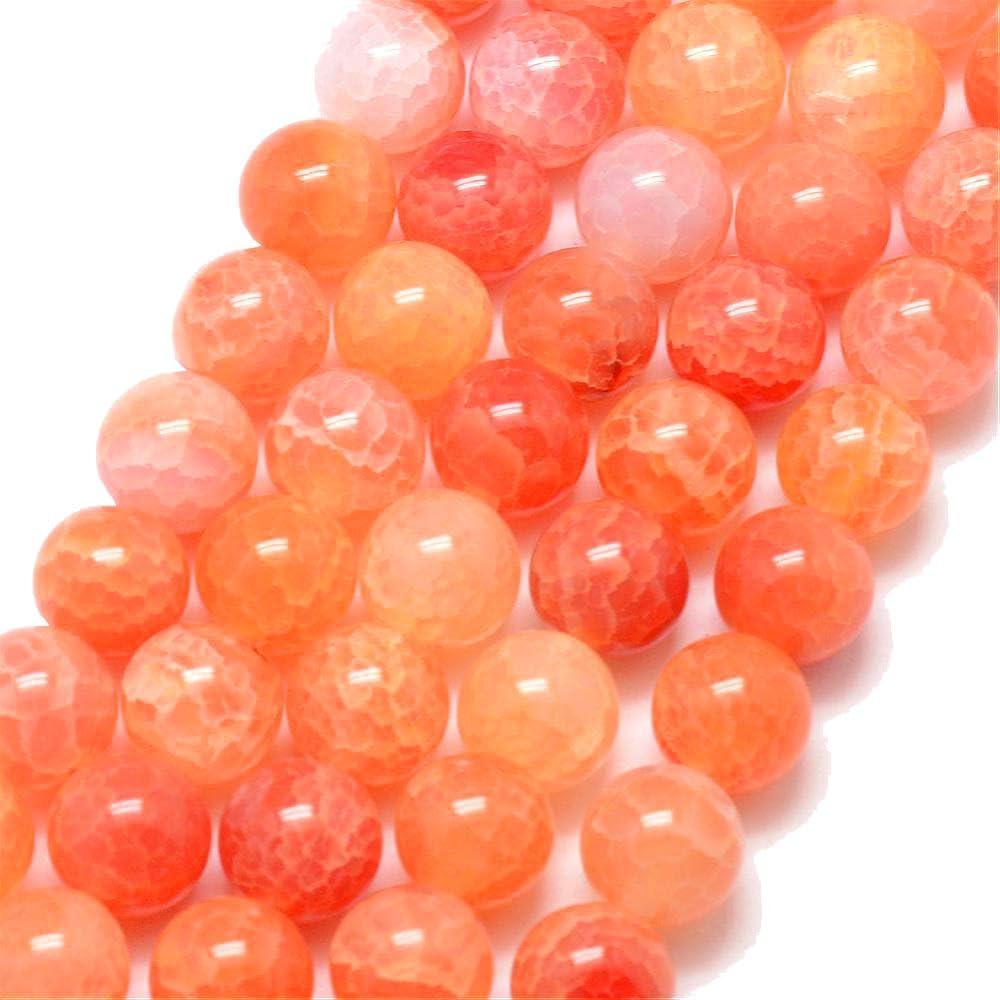 G304 - Cuentas de ágata Natural, 6 mm, Color Rojo y Naranja * A Grade * Piedras Preciosas Redondas semipreciosas - G304 - Perlas de bisutería para Manualidades