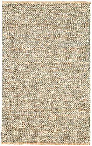 (Jaipur Living Diagonal Weave Natural Solid Tan/Green Area Rug (8'10