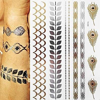 7pcs etiqueta barata del tatuaje tatuaje tatuaje tatuaje PC ...