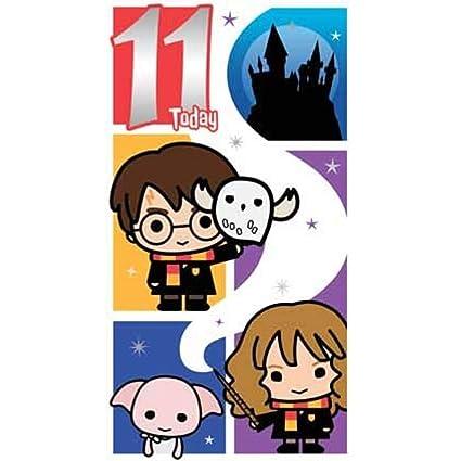 Harry Potter - Tarjeta de felicitación de 11 cumpleaños ...