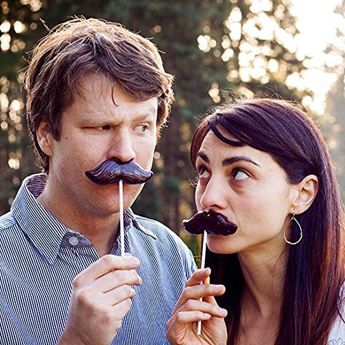 """Mustache Lollipops! 4.5"""" Cola Flavored - [A Disguise and Treat and the Same Time! Great Gag Gift for Friends!]"""