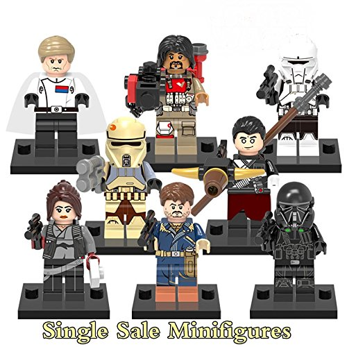 TONGROU 8pcs/set Minifigures Rogue one Movie Imwe Jyn Erso Baze Toy