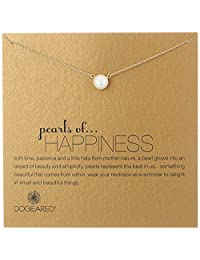 "Dogeared Jewels & Gifts ""Pearls of Happiness"" Freshwater Pearl (8 mm) Necklace, 18"